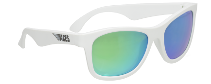 Babiators Sunčane naočale za djecu Ace Navigator Wicked white/Green lenses 6+ godina ACE-014