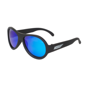 Babiators Sunčane naočale za djecu Polarized Junior Black Ops black/Blue lenses 0-2 godina BAB-049
