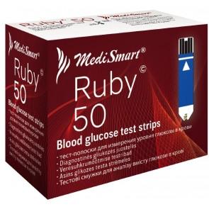 Medismart Test trake za mjerenje glukoze Ruby 50X